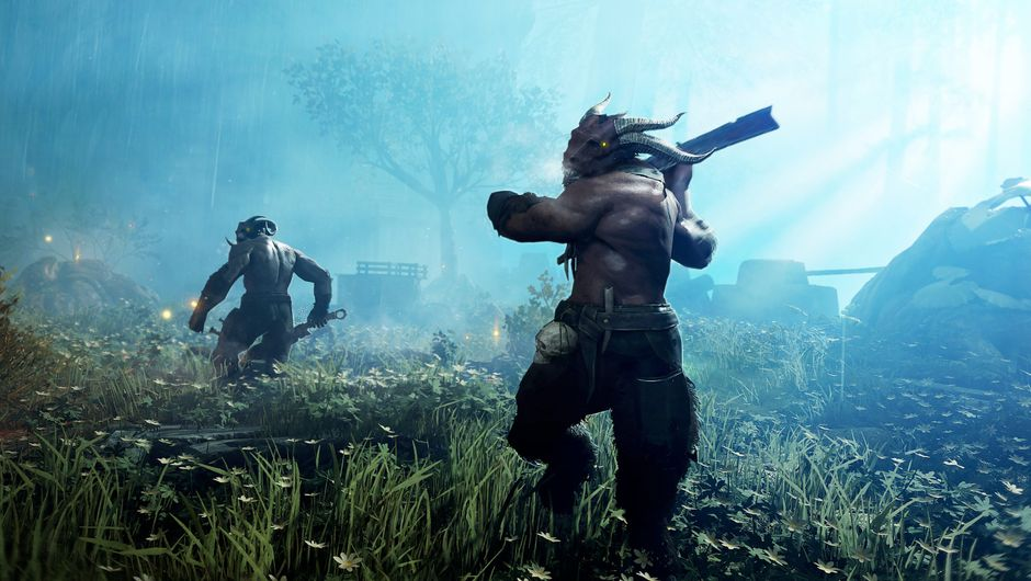 Picture of some Beastmen in Warhammer Vermintide 2