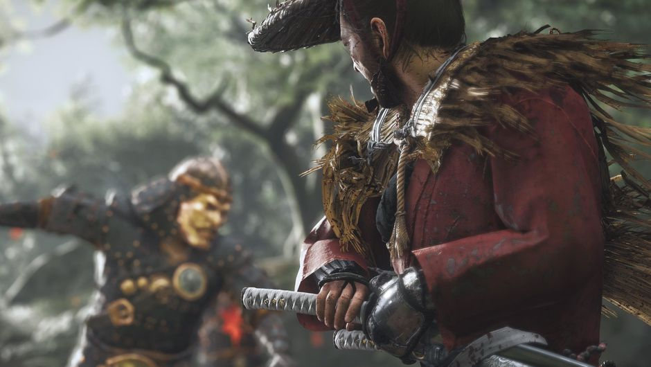 screenshot from ghost of tsushima showing samurai in combat