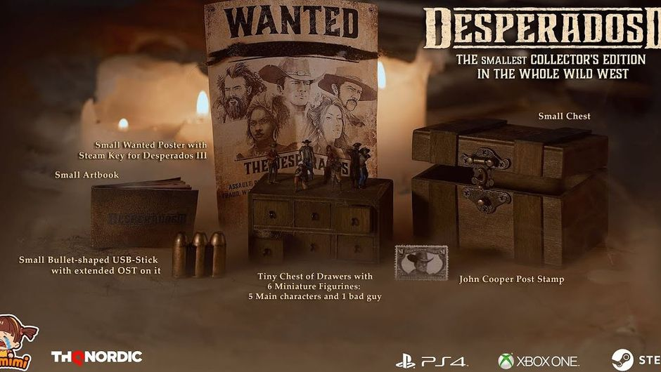 Desperados 3 Gets The World S Smallest Collector S Edition Exclusive To Speed Runners