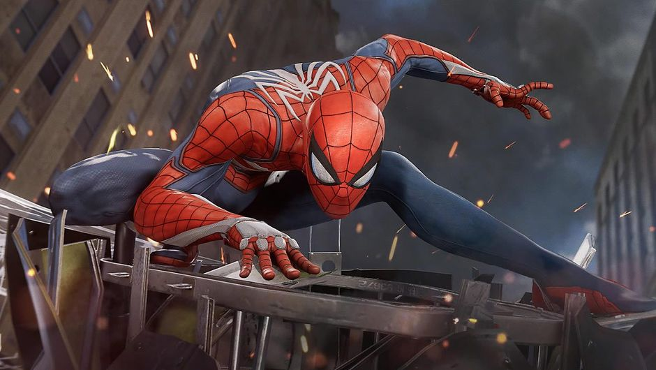 Screenshot of Marvel's superhero Spider-man from the 2018 game