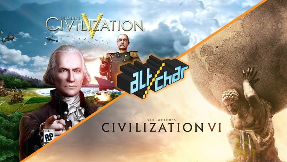 A collage of Civilization V and Civilization VI game covers