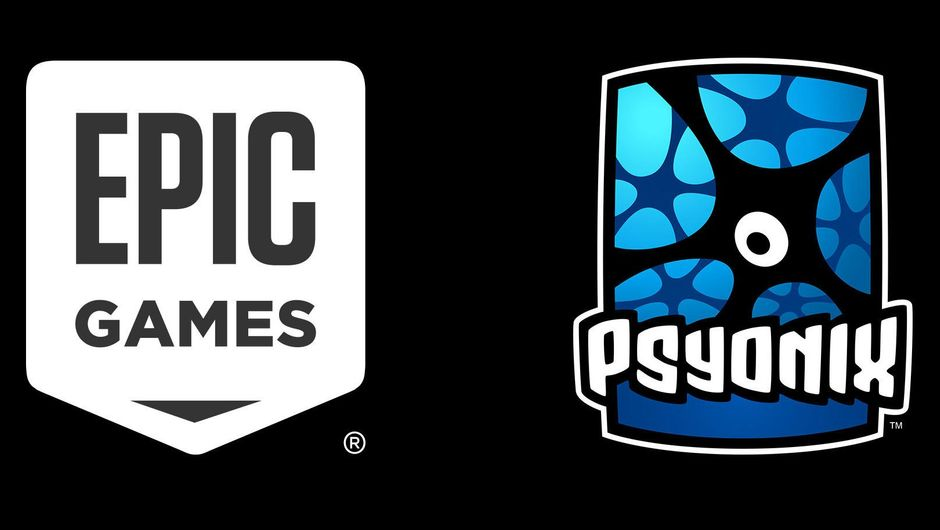 artwork showing logos of epic games and psyonix