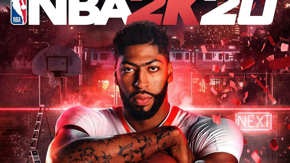 Picture of Anthony Davis on NBA 2K20 cover