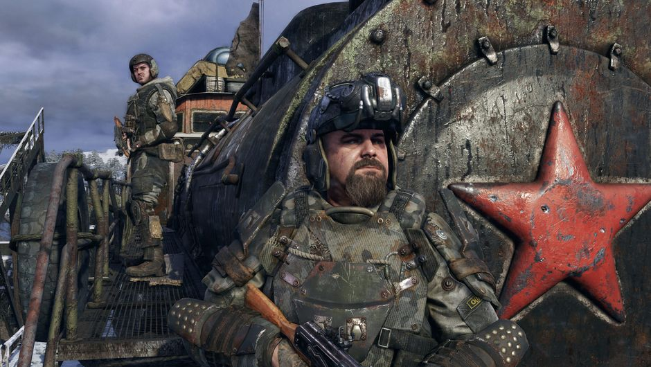 Picture of some dudes in Metro Exodus