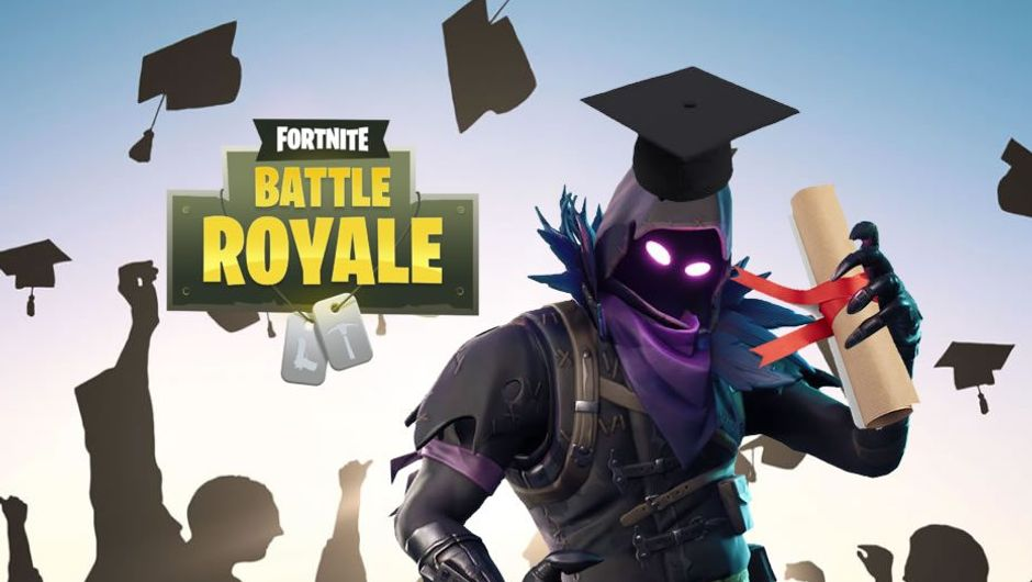 Fortnite player skin mockingly presented as university graduate