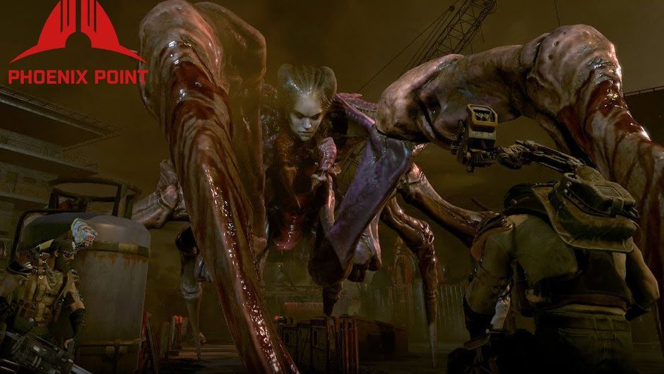 Screenshot of the Spider Queen from Phoenix Point in a battle with some soldiers.