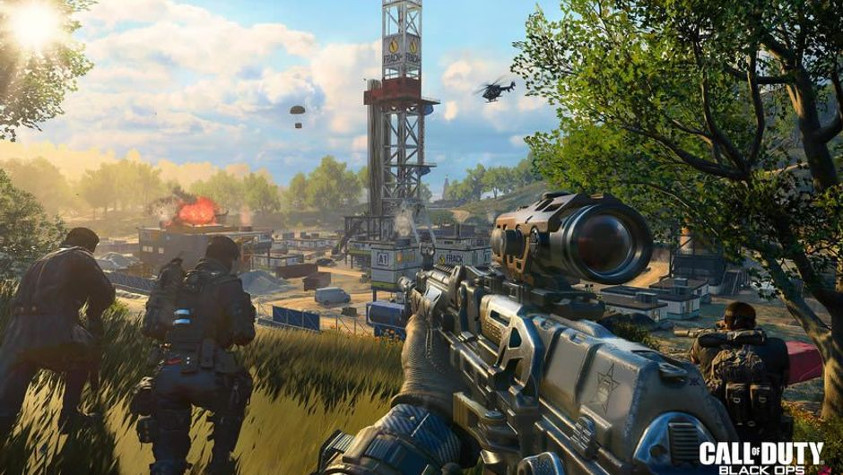 Several armed soldiers marching in Call of Duty: Black Ops 4