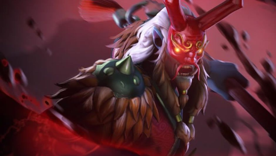 Image of a newly added Dota 2 hero called Grimstroke