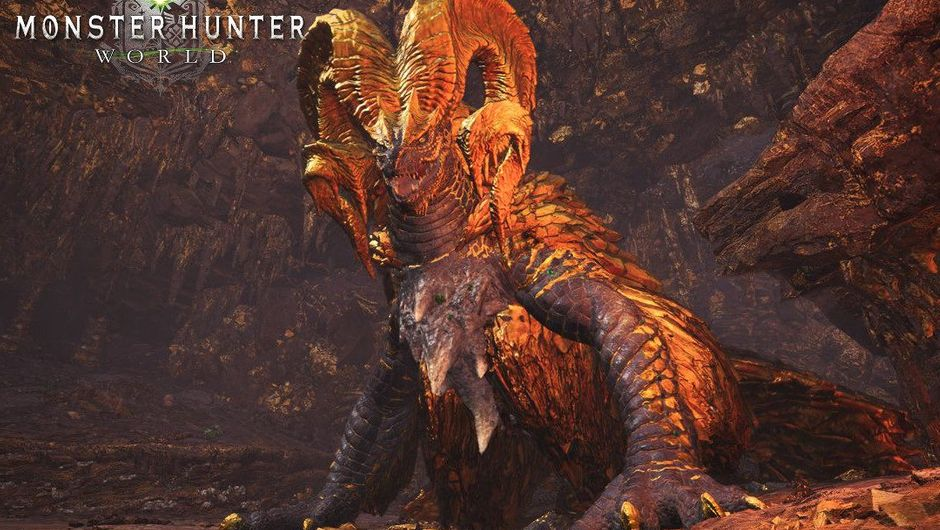 Screenshot of Kulve Taroth from Monster Hunter World.