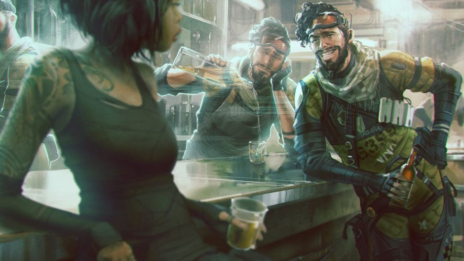 Picture of Mirage with his holograms in a bar