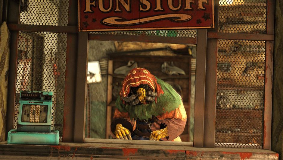 Screenshot of the Purveyor from Fallout 76