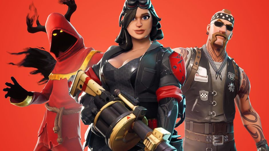 Three in-game characters on Fortnite: Save the World poster