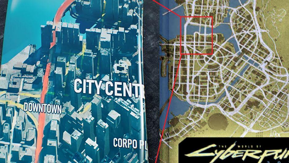 image shows cyberpunk 2077 night city