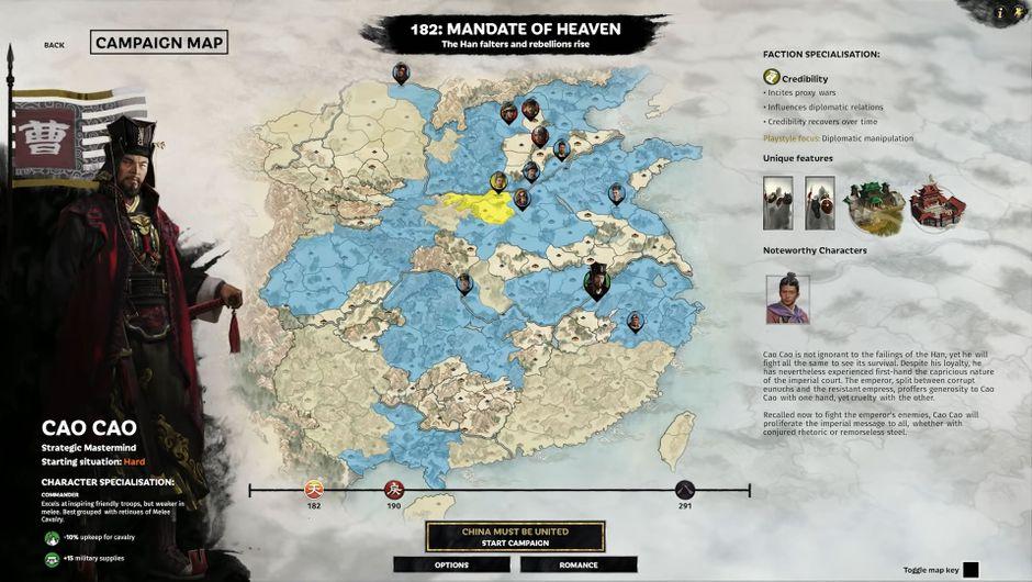 Total War: Three Kingdoms character Cao Cao