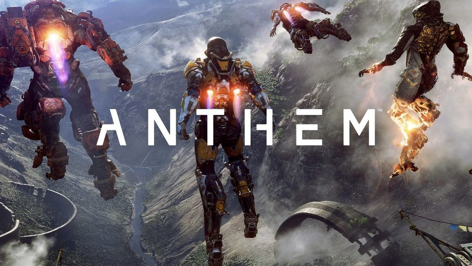 Promotional image for Anthem with four javelins