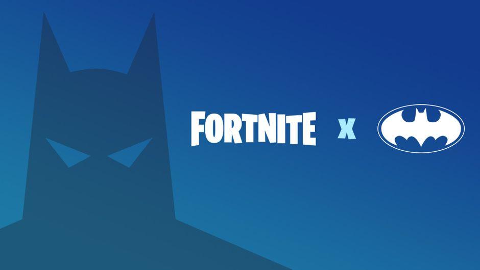 Fortnite artwork showing batman and his logo
