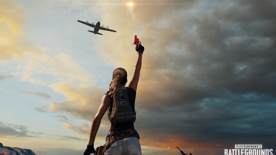 Player is calling for a supply drop with a flare gun.