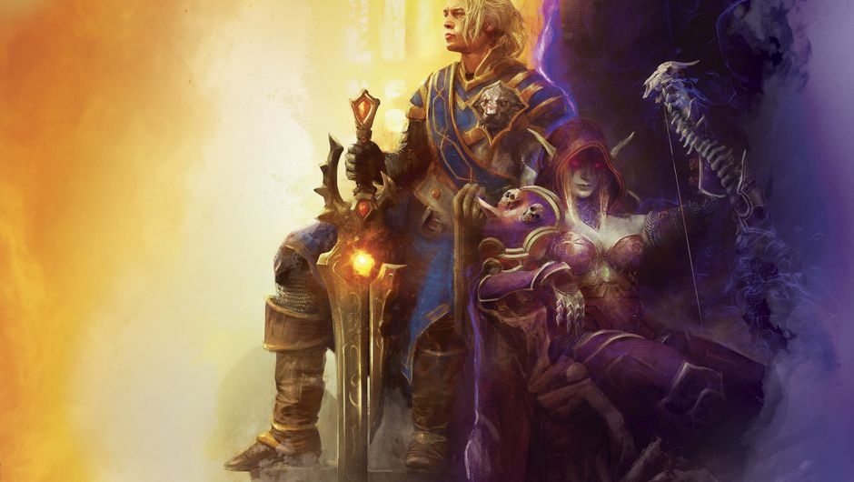 Sylvanas Windrunner and Anduin Wrynn are chilling on a promotional picture