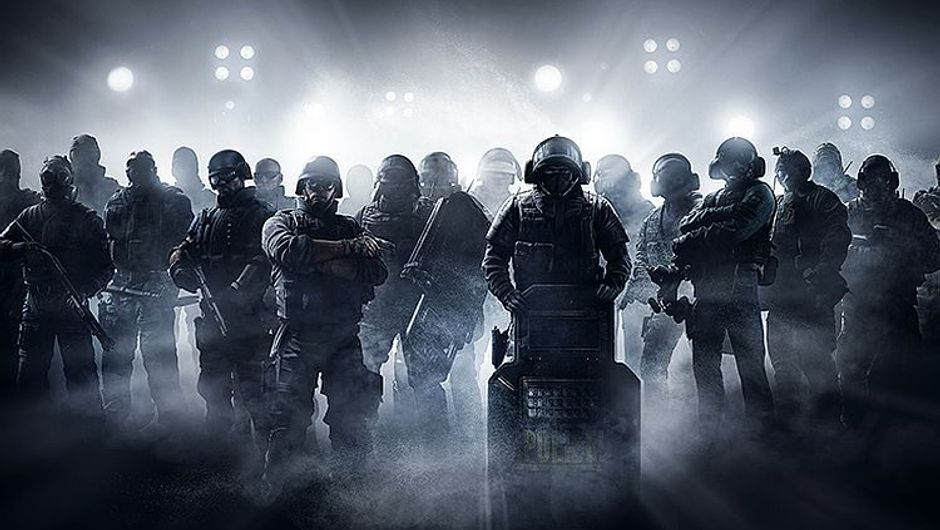 Rainbow Six Siege operators grouped in one place for a picture.