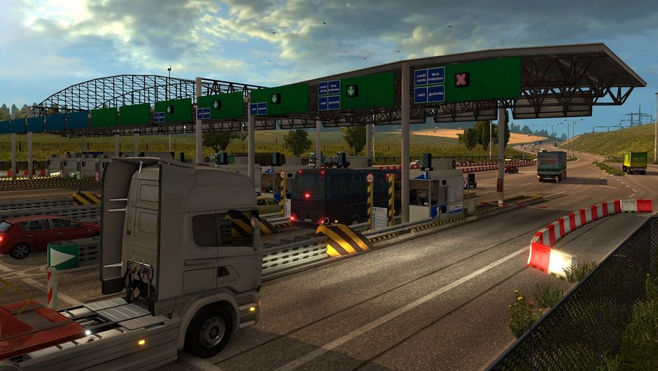 picture showing border crossing in ETS2