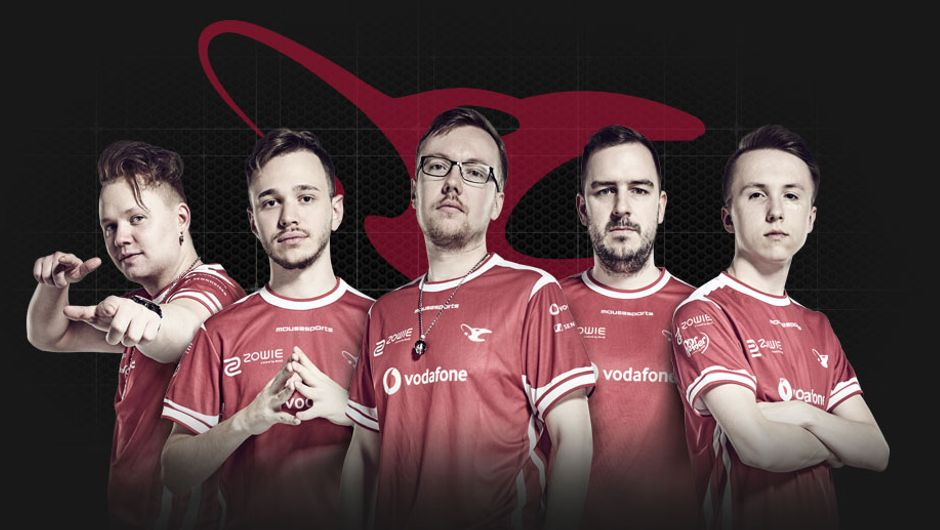 artwork showing members of mousesports
