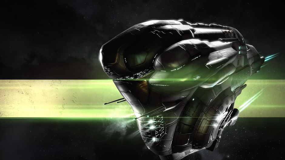 Wallpaper image showing one of EVE Online's space ships