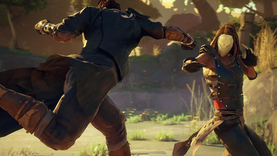 One fighter attacking another in Sloclap's fighting game Absolver