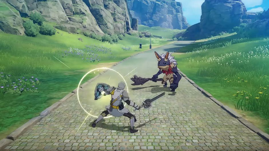 Blue Protocol screenshot showing aegis fighter class
