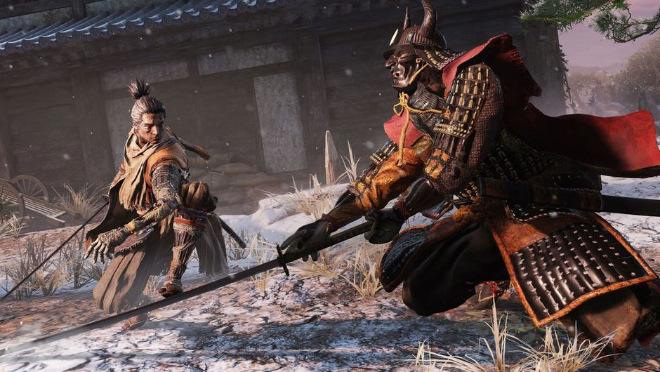 Two samurai fighting in Sekiro: Shadows Die Twice