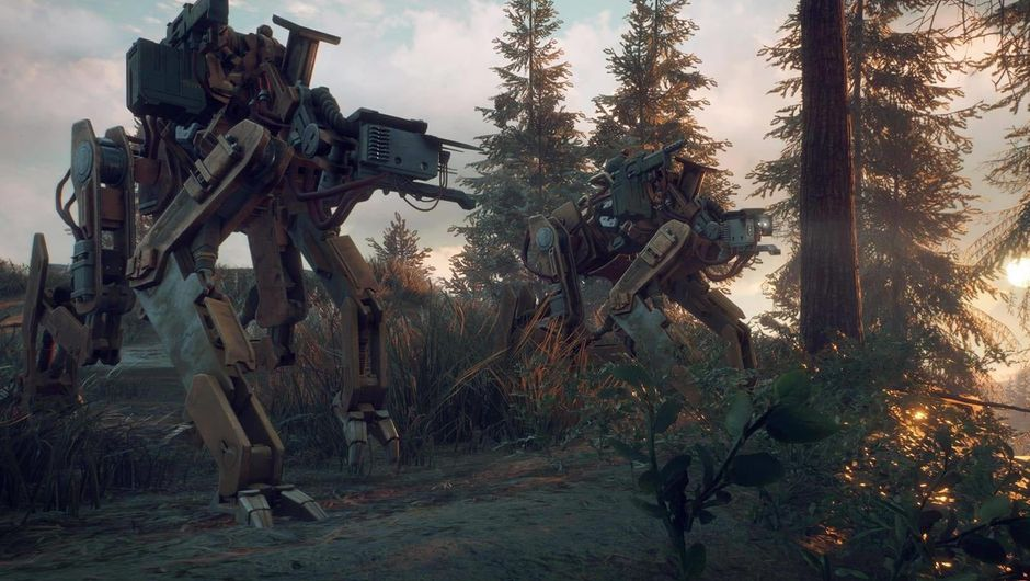 Large mechanical machines from the game Generation Zero
