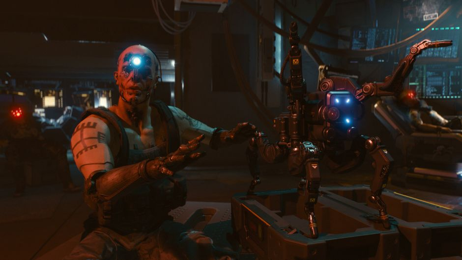 One of the many factions in Cyberpunk 2077, discussing their robotic products.