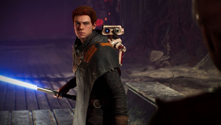 Star Wars Jedi: Fallen Order screenshot showing a main character with lightsaber