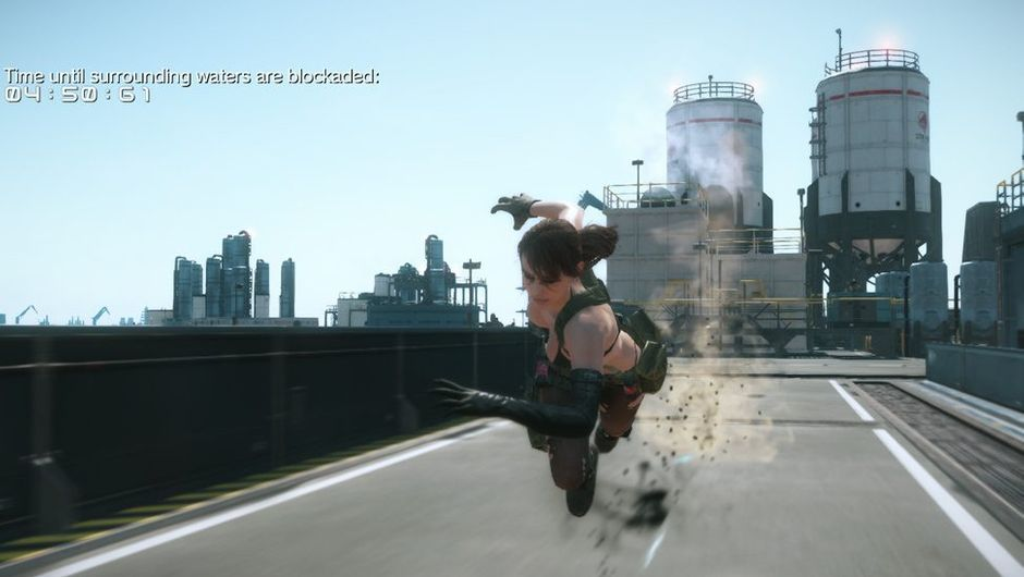 Picture of Quiet running at unnatural speed in Metal Gear Solid V