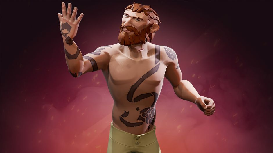 Sea of Thieves character with tattoos