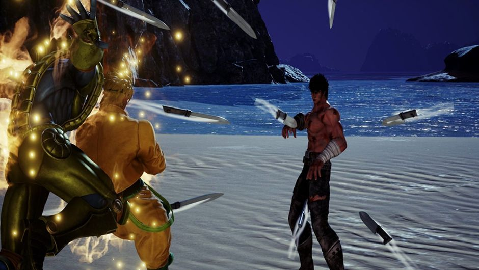 DIO taking on Kenshiro in Jump Force.