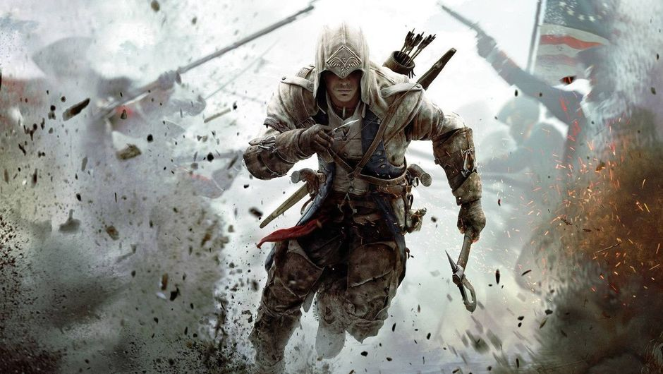 An assassin running through the battlefield in Assassin's Creed 3