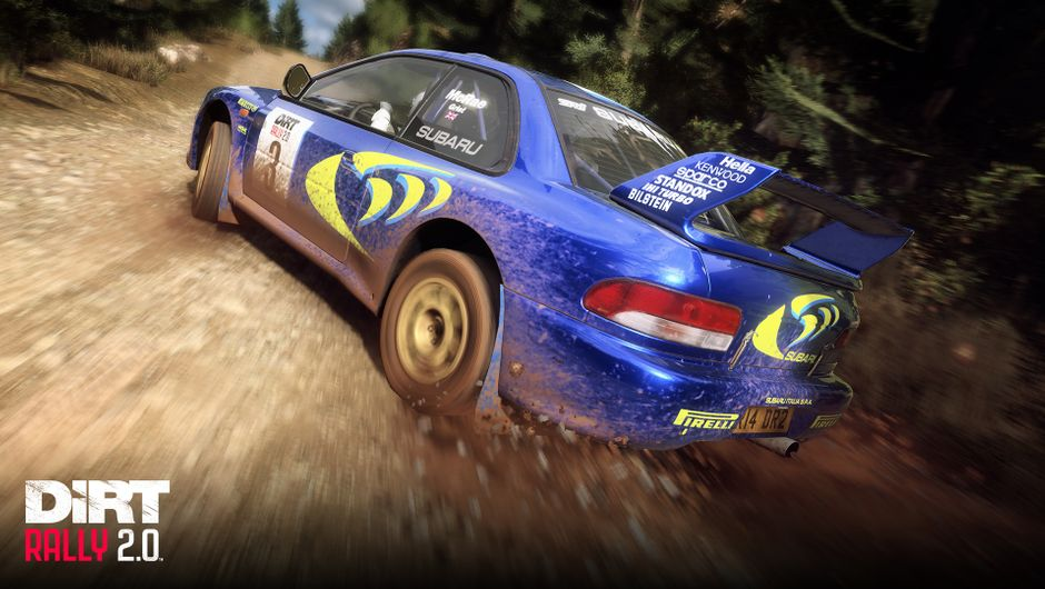 Dirt Rally 2.0 depiction of Subaru Impreza S4 Rally