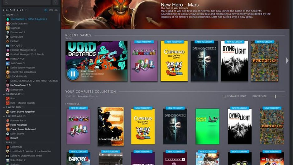 Steam Library's upcoming overhaul