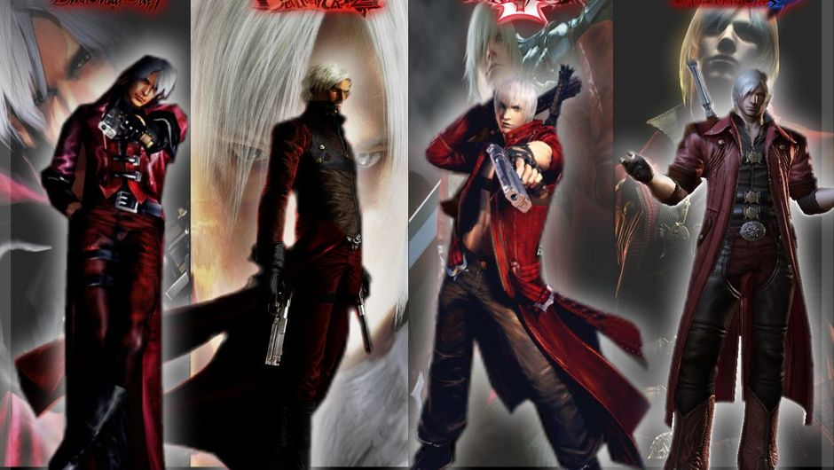 Image showing Dante in his various incarnations over the years