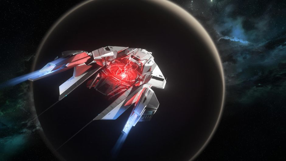 Star Citizen ship carrying what's known as QED device