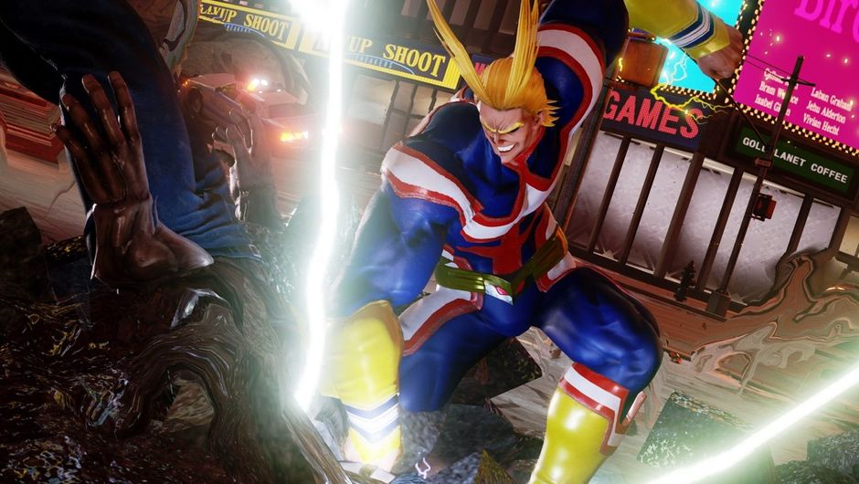All Might against Younger Toguro in Jump Force.