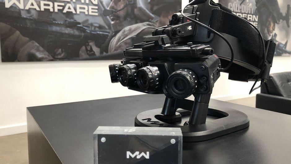 photo showing Modern Warfare Dark Edition's night vision goggles