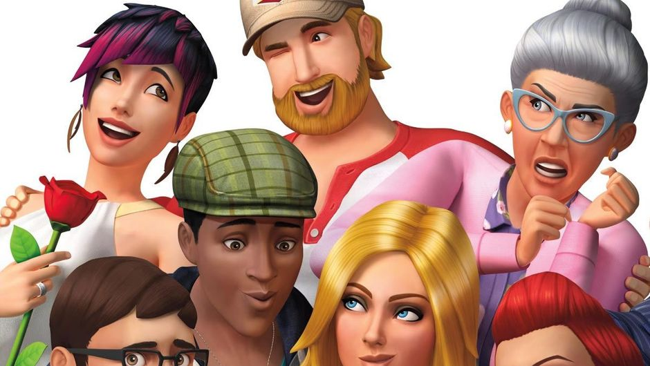 Characters from EA's game The Sims 4