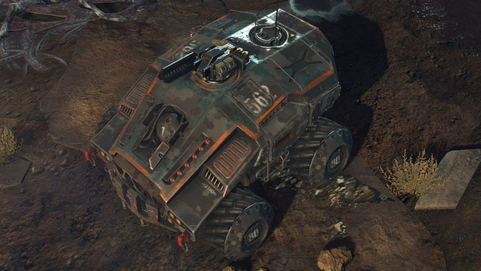 Screenshot of the Armadillo, a New Jericho vehicle in Phoenix Point