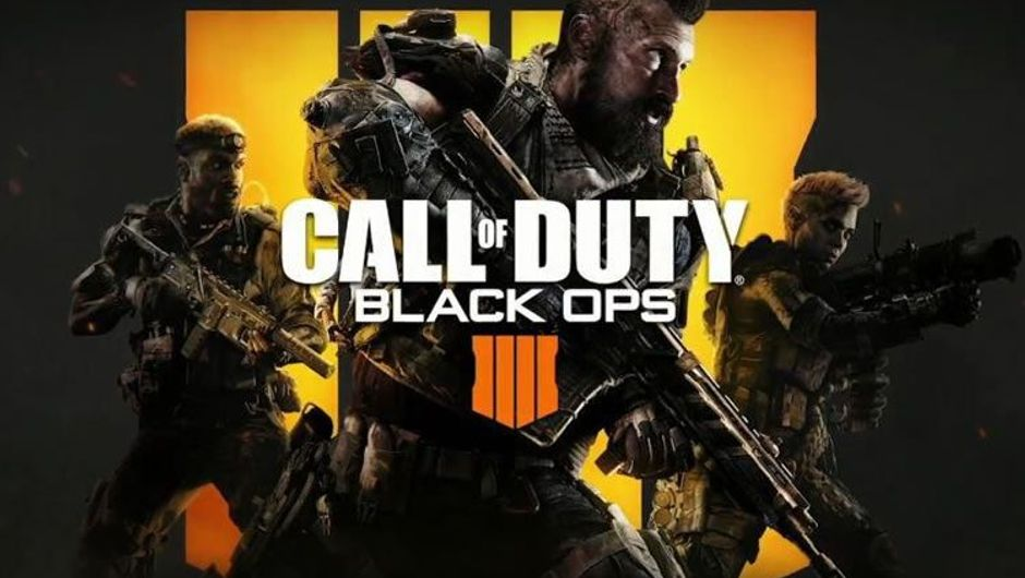 Key art for Call of Duty: Black Ops 4 with three soldiers on it