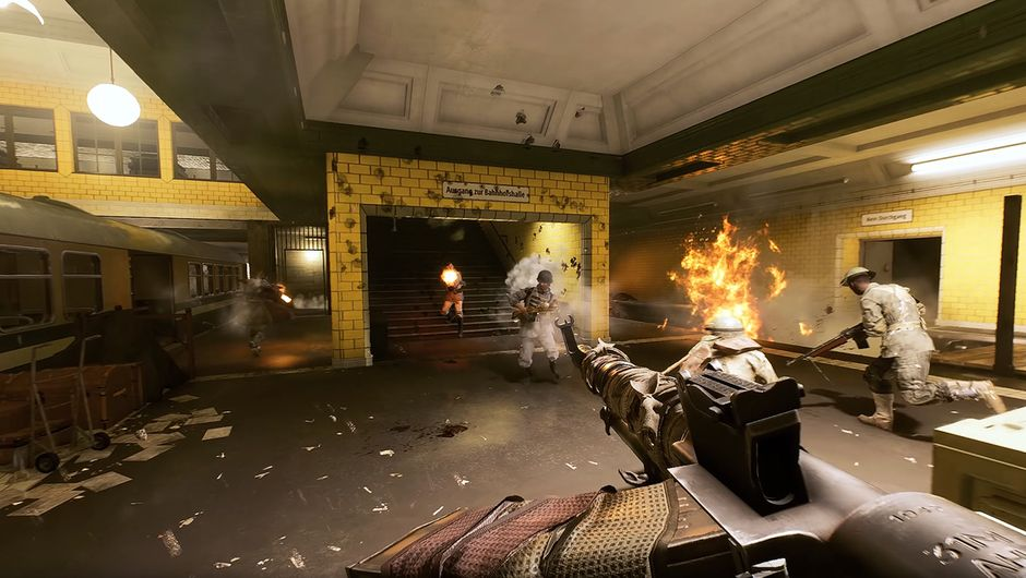 battlefield v screenshot showing metro combat