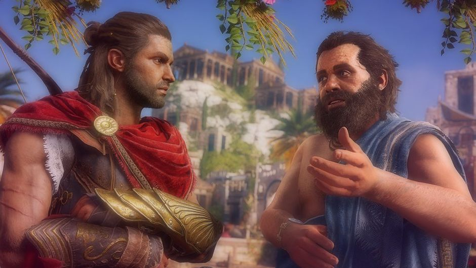 Picture of Alexios and Socrates in Assassin's Creed: Odyssey