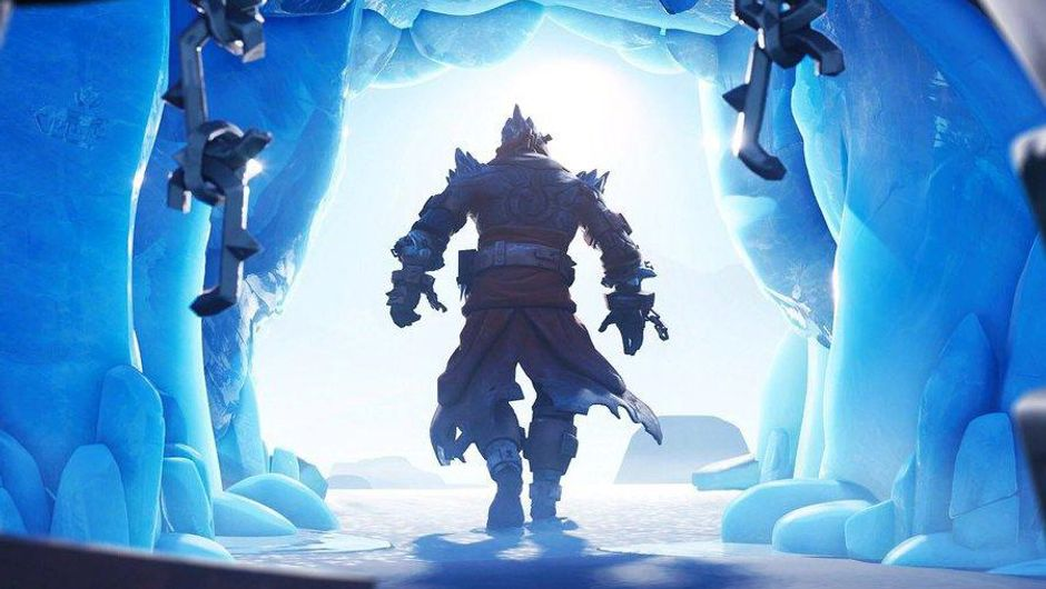picture showing character walking out of frozen cave
