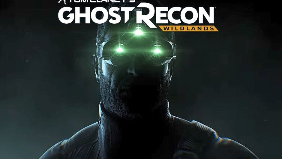 Dark picture of Sam Fisher announcing his appearance in Ghost Recon Wildlands.