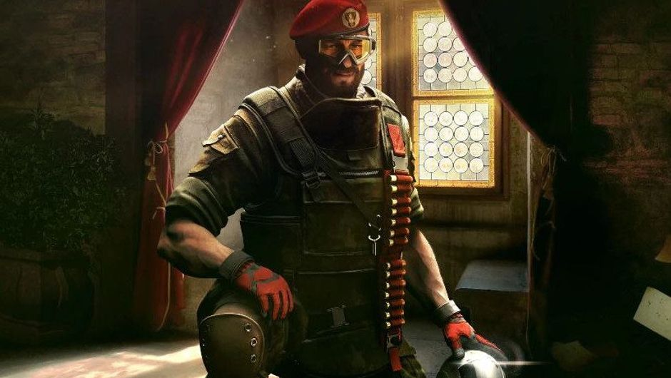 Image of Maestro with his turret from Rainbow Six Siege